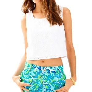 Lilly Pulitzer Daisy Eyelet Lux Top